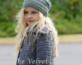 Crochet PATTERN-The Gypsum Slouchy (Small, Medium and Large sizes)