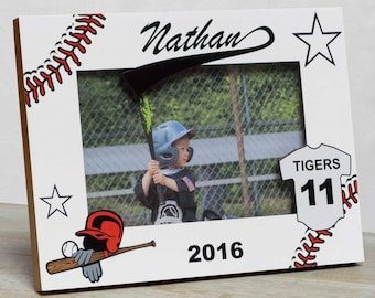 Baseball Picture Frame, Personalized Baseball Picture Frame, Kids Sports Picture Frame, Kids Baseball Frame, Sports Picture Frame, Baseball