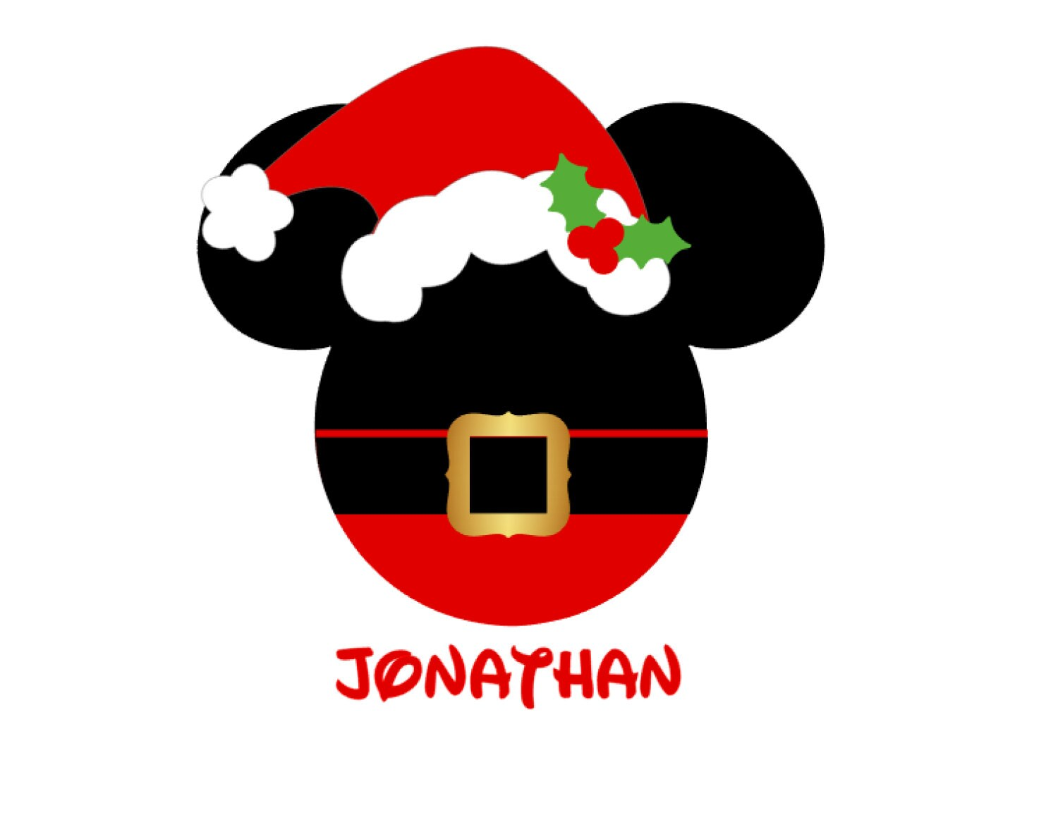 Personalized santa claus mickey mouse minnie mouse santa hat zoom biocorpaavc