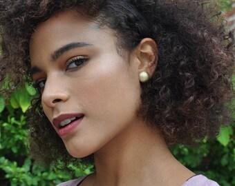 Sunny Studs - Convex circle - minimal jewelry - modern earrings