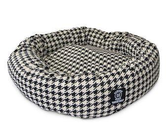Houndstooth Dog Bed_Junior
