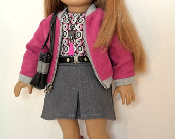 18 inch Doll Clothing fits American Girl Doll - 7 piece outfit includes boots