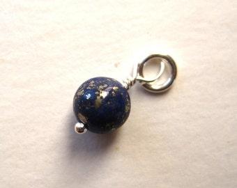 Lapis Gemstone Bead Dangle Charm