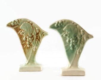 McCoy Pottery Vase, Rustic Line Vase, Vintage Flower Vase, Country Cottage Decor