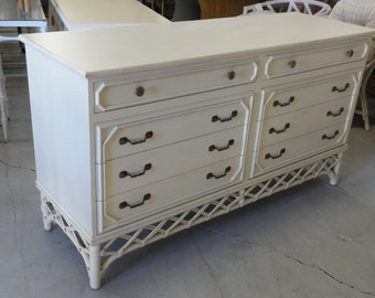 Vintage Ficks Reed Double Dresser