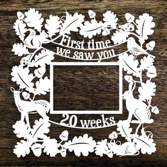 Papercut Template \'First Time We Saw You 20Weeks\' Ultrasound Photo ...