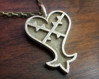 Kingdom Hearts Heartless Emblem 3D Printed Stainless Steel Pendant