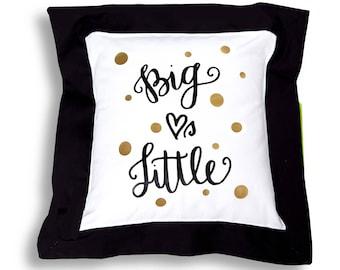 Big Sis-Lil Sis, Big Love's Little Sorority Throw Pillow.