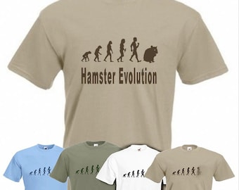 Evolution to Hamster t-shirt Funny T-shirt sizes S TO 2XXL
