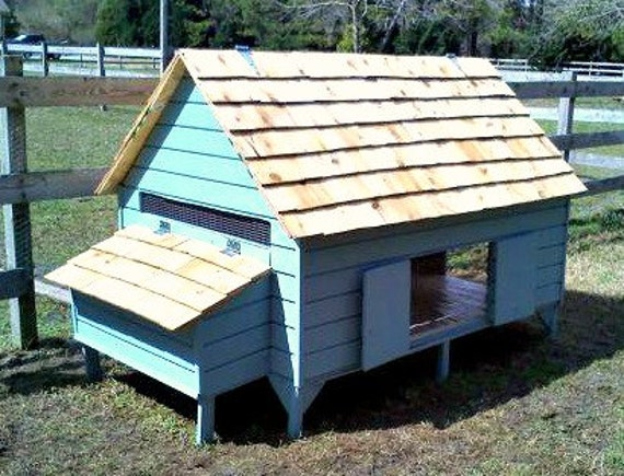 Chicken coop plans new england cape style poultry duck pdf for Chicken and duck coop