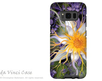 Lotus Case for Samsung Galaxy S8 - Green and Purple Floral S 8 Case with Art - Bali Dream Flower - Dual Layer Case by Da Vinci Case