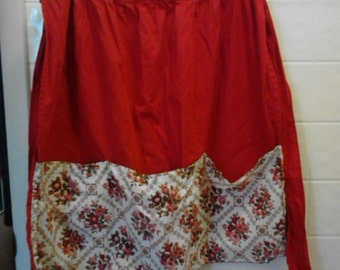 Vintage Fifties Red Apron  ECS