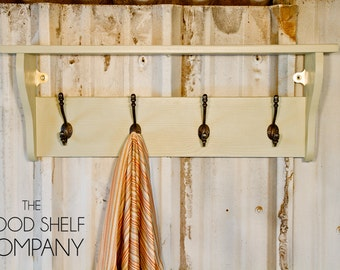 Hat & Coat Rack with Shelf - available in a number of finishes