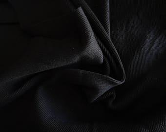 Wool ribbed 110x100cm black stretch mesh