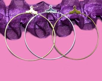 60 hoop three colors gold/silver/bronze 40mm diam.