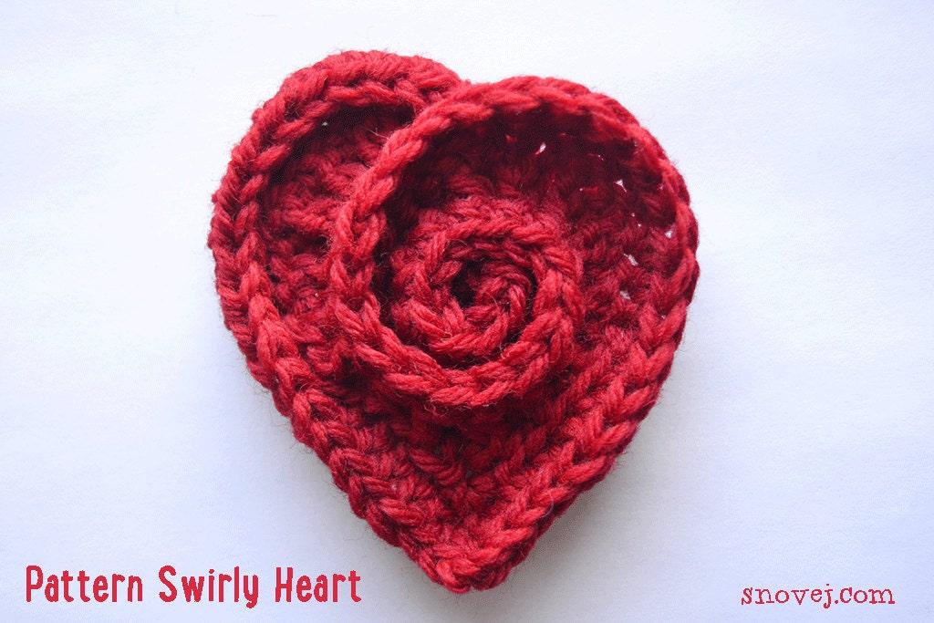 Pattern Crochet Swirly Heart Pin Brooch Us Uk Terminology
