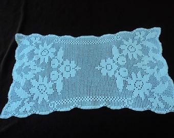French vintage white crochet doily  (05358)