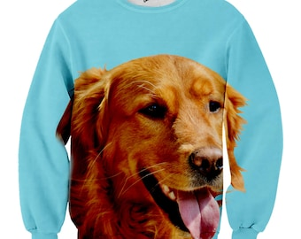 Custom Dog Sweater   Animal Face Sweater   Dog Sweater for Humans   Picture Pet Sweater   Custom all over print Sweater