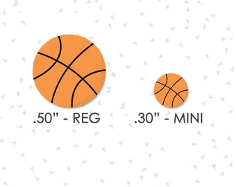"Basketball Stickers |  2 Sizes | .30"" & .50"" 