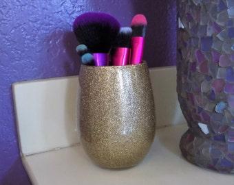 Glittered Makeup Brush Holder