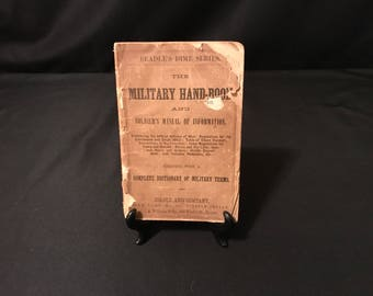Very Rare 1862 Beadle's Dime Series Military Handbook & Soldier's Manual: Compelte Dictionary Of Military Terms