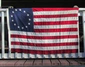items similar to 52 x 34 vintage us flag 13 circle star betsy ross