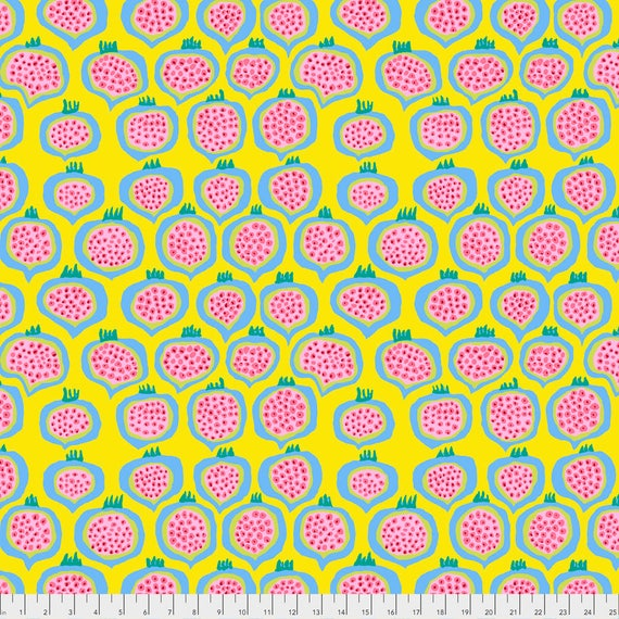 POMEGRANATE Yellow Brandon Mably PWBM067.YELLO  Sold in 1/2 yard increments