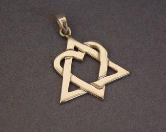 Sterling silver Adoption symbol pendant