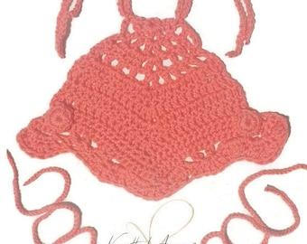 Custom crochet baby halter top, barefoot sandals