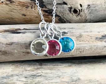 Swarovski Birthstone Crystals, 6mm Silver Birthstones, Add Ons, 100% Crystal Birthstone Charms, Birthstone Jewelry, Personalized Jewelry