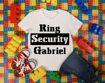 RIng Security- Tshirt or Hoody- Made to order - Custom Colors and Name- Free shipping