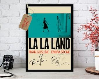 La La Land 2017 Emma Stone Ryan Gosling - Cast Autographed Movie Photo Print - 1