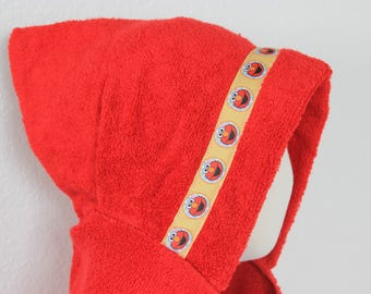 Elmo Hooded Towel, Red - For babies, toddlers, preschoolers and beyond!