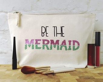 Glitter Mermaid Bag, Mermaid Makeup Gift, Mermaid Makeup Bag, Glitter Mermaid Gift, Mermaid Scales, Mermaid Gift, Mermaid Makeup Storage