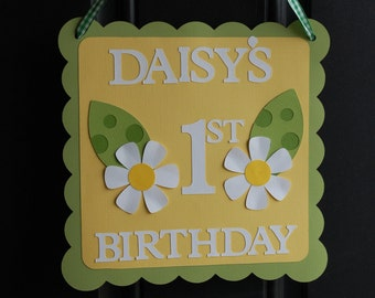 Daisy Welcome Sign, Daisy Birthday, Daisy Door Sign, Daisy Decorations, Daisy Baby Shower, 1st Birthday