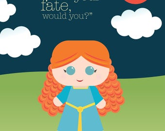 BRAVE - Fairy Tale Collection Print