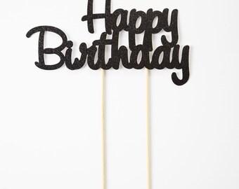 Happy Birthday Cake Topper, Birthday Cake Topper
