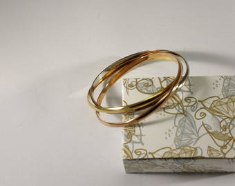 3-er set bangle silver 925 design plain SA368