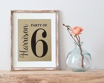 Pregnancy Reveal, Party of 6 Sign, Party of 4 Sign, Farmhouse Style, Party of 3 Sign, Fixer Upper Wall Decor, Fixer Upper Decor Announcement