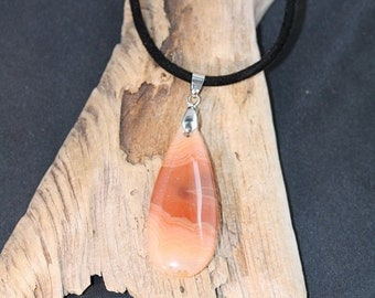 Spring Into Summer Sale - Red Line Agate Necklace - Item 1399