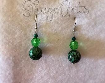 Wild green earrings