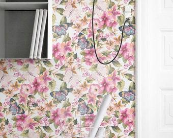 Impanties Pattern Wallpaper, Butterfly & Imapanties Removable Wallpaper, Butterfly Wall Decal, 120