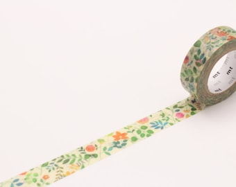 Watercolour Flower Washi Tape • MT Masking Tape • MT ex Washi Tape • Floral • Washi Tape UK • Japanese Stationery • Watercolour Flower