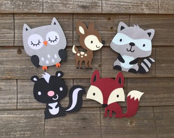Woodland Creatures Themed Cut Outs Birthday Baby Shower Centerpiece