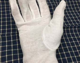 lot of 10 pairs white cotton inspection gloves