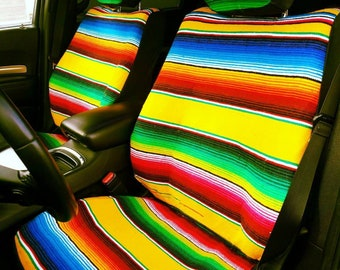 Mexican Blanket Custom Seat Covers