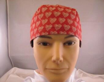 Men's Scrub Hat Hearts