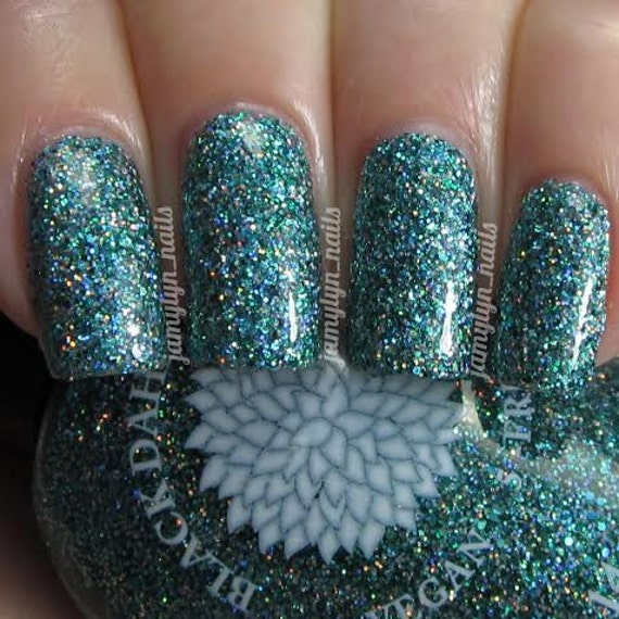 Green Glitter Nail Polish By Black Dahlia Lacquer Bells Of