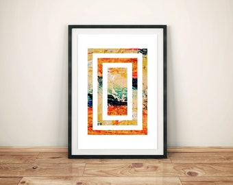 Abstract Modern Art Painting Print Poster Design