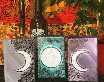 Triple Moon 3 Canvas Set